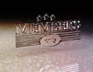 Members only - Glas - B
