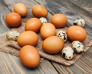 different types of eggs