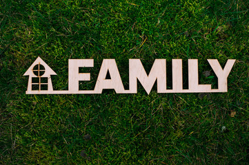 Wooden letters family