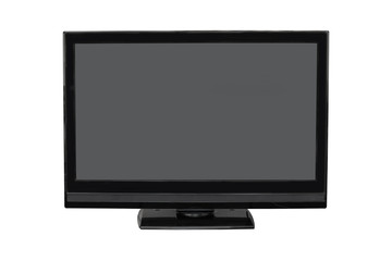 TV flat screen lcd, photo isolated on white background