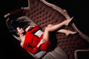 Elegant woman posing in a sexy way
