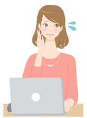 女性 パソコン