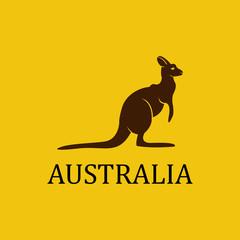 Vector australia kangaroo