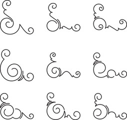 Set of 9 decorative corners.