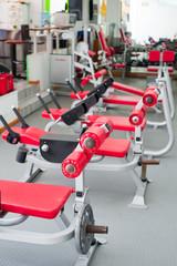 Fitnessgeräte im Fitnesscenter