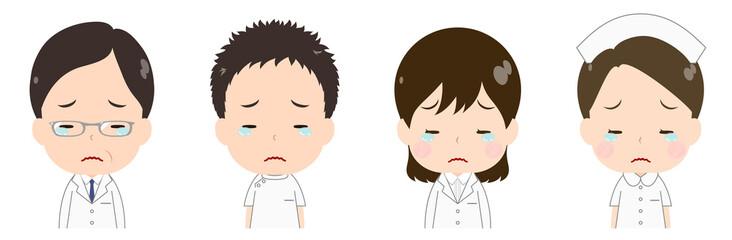 医者 看護師 悲しい 涙目