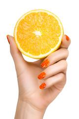 Female Hand Holding a Luscious Healthy Lemon