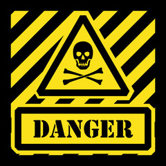 Vector danger sign yellow and black