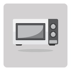 Vector of flat icon, microwave oven on isolated background