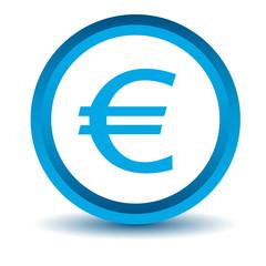 Blue euro icon