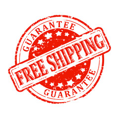 Damaged Round Stamp Red - Free Shipping - guaranteed - vector