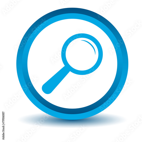 magnifying glass icon blue - photo #19