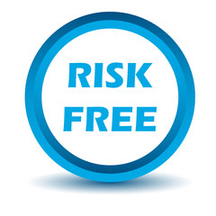 Blue risk free icon