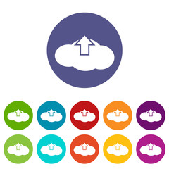 Upload cloud flat icon