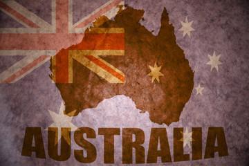 australia vintage  map