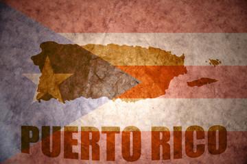 puerto rico vintage  map