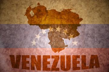 venezuela vintage  map