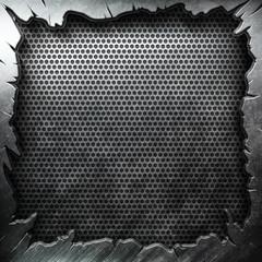 Crack metal background template