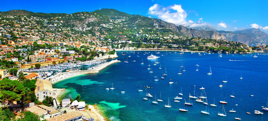 Canvas Prints Nice azure coast of France - panoramic view of Nice