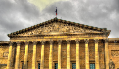 Palais Bourbon - National Assembly of France in Paris