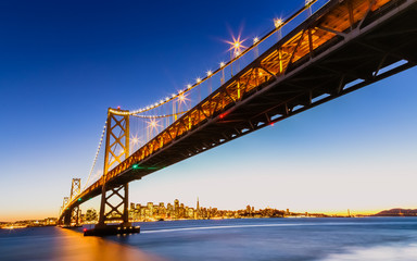 Fotomurales - SF Bay Bridge at Sunset