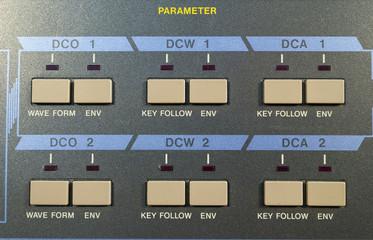 Vintage digital synthesizer parameter panel