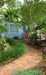 Shaded garden path