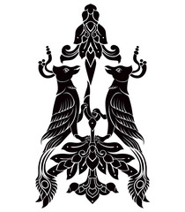 two bird tattoo