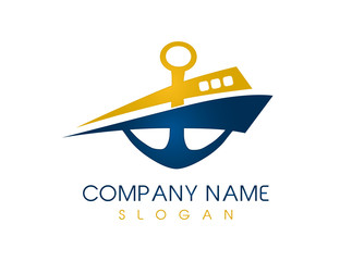 Abstract boat logo