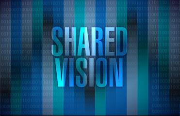 shared vision sign illustration design