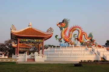Chinese Temple pagoda in Nakhon Sawan, Thailand
