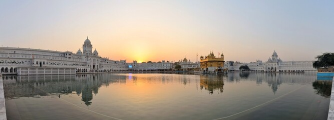 Acrylic Prints Temple Sikh holy Golden Temple in Amritsar, Punjab, India
