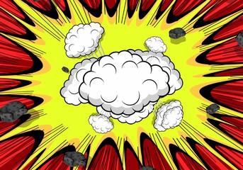 Retro Clouds Burst Background
