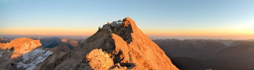 Zugspitze, Highest mountain peak in German alps Wall mural