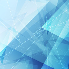 Bright blue triangle abstract background design