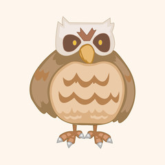 bird owl cartoon theme elements vector,eps