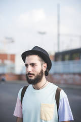 young handsome hipster gay modern man