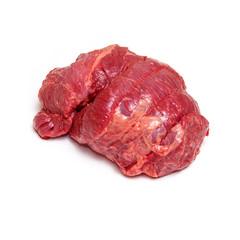 Beef Brisket meat on white background.