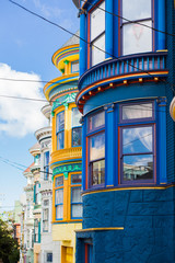 Colorful buildings in Haight Ashbury, San Francisco
