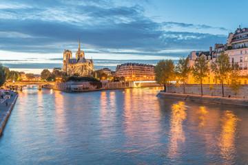 Seine River and Notre Dame - Paris, France