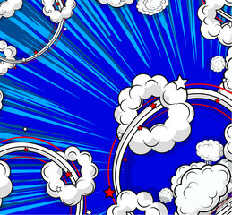 Retro Clouds Abstract Background