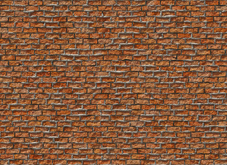 old hi-res red small brick wall pattern