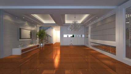 3D empty room design
