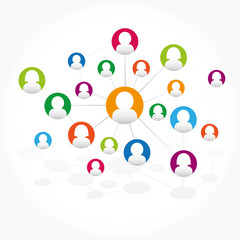 Abstract background scheme of social network