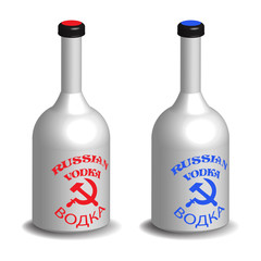 Russian vodka bottles
