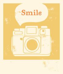 Smile - fond jaune