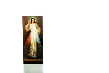 Merciful Jesus, I trust in You image on white isolated icon