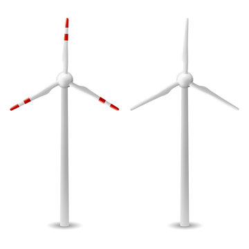 wind turbine isolated vector