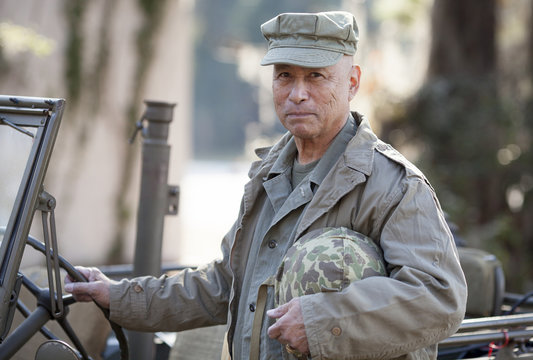 Man in World War Two Uniform