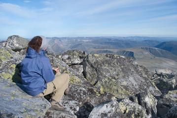 hiker on rest